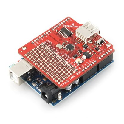 Arduino USB Host Shield - Proto-PIC DEV-09947 - fitted