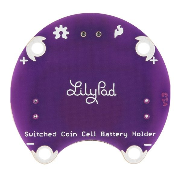 Lilypad Battery coin cell holder 20mm cr2032 switch back image