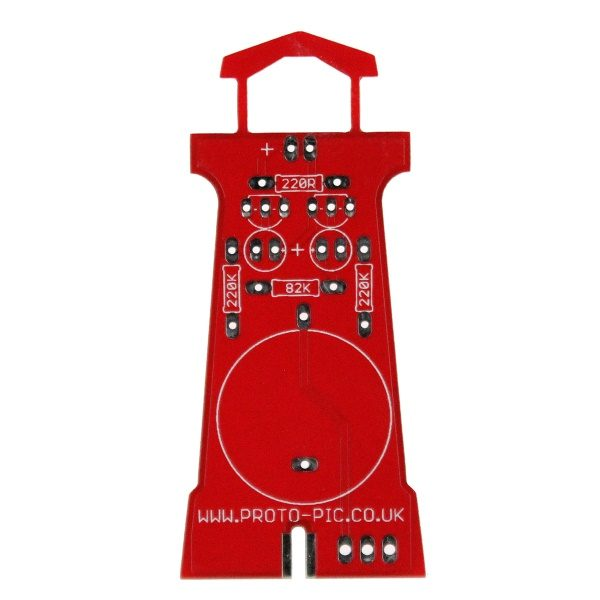 Lighthouse soldering kit PCB rear, stem educational product