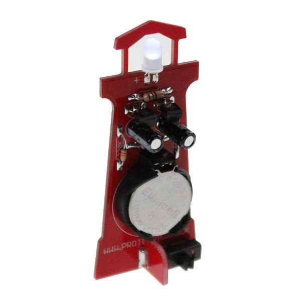 Lighthouse soldering kit assembled rear, stem educational product