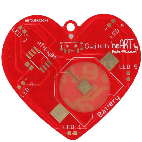 heART Pendant, rear, Educational Soldering Kit, STEM learning, education