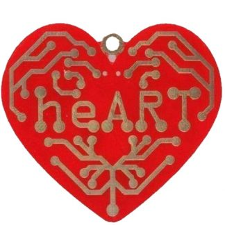 heART Pendant, Front, Educational Soldering Kit, STEM learning, education