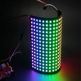 16×16 RGB LED ARRAY FLEXIBLE WS2812B MATRIX – (ADAFRUIT NEOPIXEL COMPATIBLE)