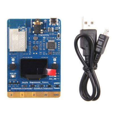Seeed Studio AZ3166 IOT Developer Kit for Microsoft Azure - Image of Board and Cable