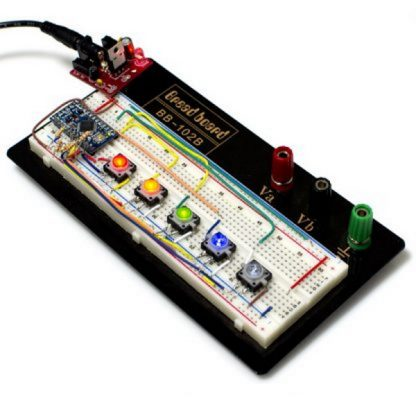 LED Tactile button board